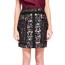 Buy Ted Baker Addizon Unity Floral Skirt, Black/Multi Online at johnlewis.com
