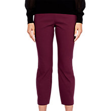 Buy Ted Baker Baylea Crop Trousers, Maroon Online at johnlewis.com