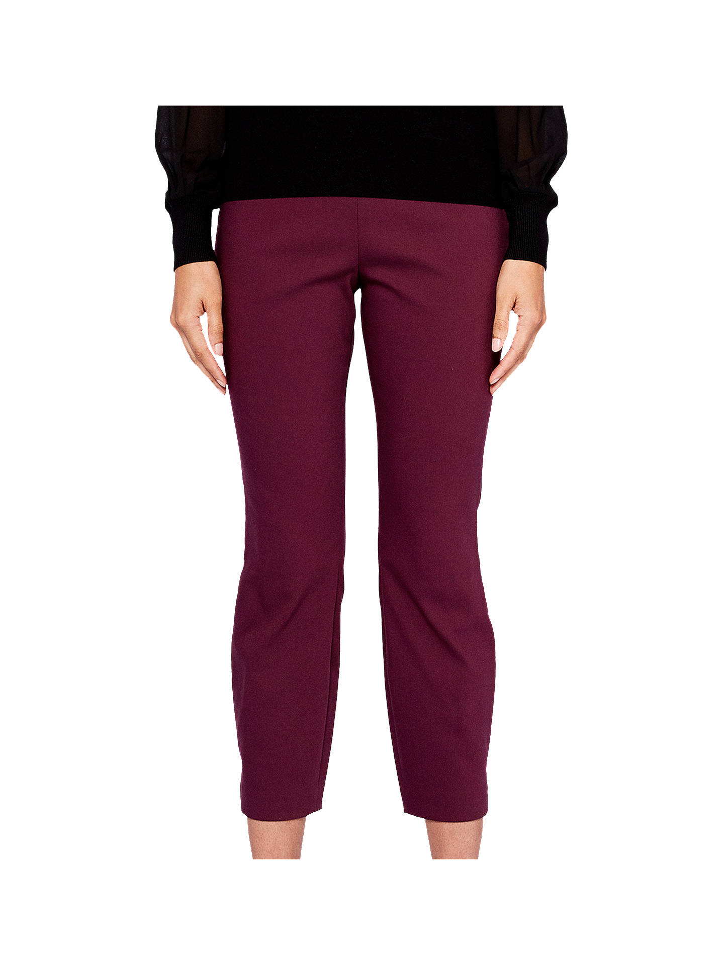 BuyTed Baker Baylea Crop Trousers, Maroon, 0 Online at johnlewis.com