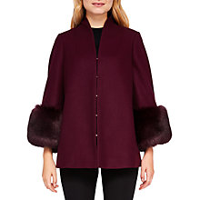Buy Ted Baker Rilly Wool Cashmere Blend Coat, Maroon Online at johnlewis.com