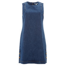 Buy White Stuff Seren Denim Pinafore Dress, Blue Online at johnlewis.com