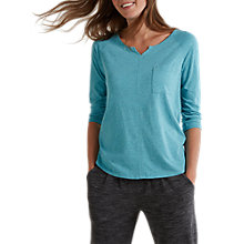 Buy White Stuff Notch Neck T-Shirt, Aqua Blue Online at johnlewis.com