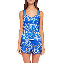 Buy Ted Baker Aferah Kyoto Gardens Top, Bright Blue/Multi Online at johnlewis.com