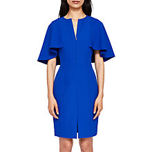 Buy Ted Baker Porisa Cape Bodycon Dress, Bright Blue Online at johnlewis.com