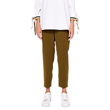 Buy Ted Baker Baya Side Stripe Trousers, Khaki/Multi Online at johnlewis.com