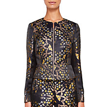 Buy Ted Baker Tvna Kyoto Gardens Cropped Jacket, Mid Blue Online at johnlewis.com