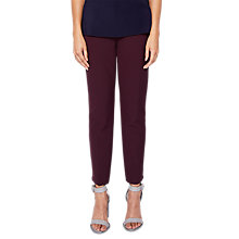 Buy Ted Baker Suriat Tailored Ankle Grazer Trousers, Maroon Online at johnlewis.com