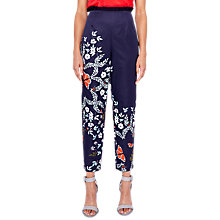 Buy Ted Baker Leonna Tapered Trousers, Blue/Multi Online at johnlewis.com