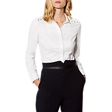 Buy Karen Millen Tailored Studded Shirt, White Online at johnlewis.com