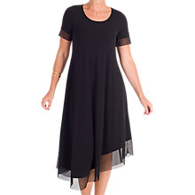 Buy Chesca Jersey Asymmetric Mesh Dress, Black Online at johnlewis.com