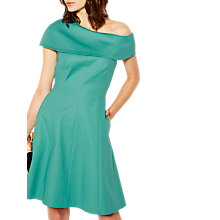 Buy Karen Millen Double Layer Skater Dress, Teal Online at johnlewis.com