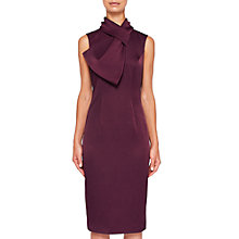 Buy Ted Baker Eyet Dramatic Bow Dress, Maroon Online at johnlewis.com