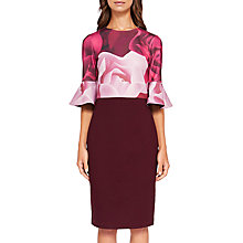 Buy Ted Baker Tzalva Porcelain Rose Bodycon Dress, Maroon Online at johnlewis.com