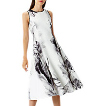 Buy Coast Grove Print Scuba Midi Dress Short, Monochrome Online at johnlewis.com