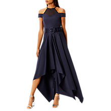 Buy Coast Kim Drape High Low Skirt, Navy Online at johnlewis.com