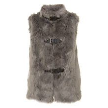 Buy Mint Velvet Luxury Faux Fur Gilet, Oatmeal Online at johnlewis.com