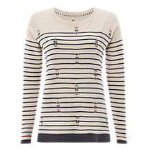 Buy White Stuff River Canyon Stripe Jumper, Almond Online at johnlewis.com