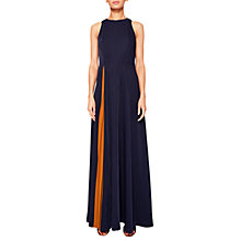 Buy Ted Baker Madizon Maxi Dress, Navy/Mustard Online at johnlewis.com