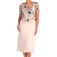 Buy Chesca Sequin And Embroidered Mesh Dress, Blush Online at johnlewis.com