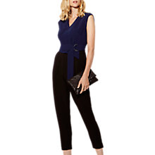 Buy Karen Millen The Essentials Tailored Jumpsuit, Black/Multi Online at johnlewis.com