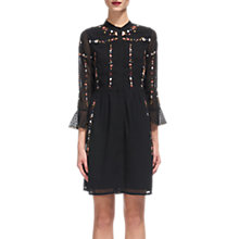 Buy Whistles Amira Embroidered Shirt Dress, Black/Multi Online at johnlewis.com
