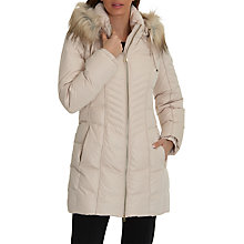 Buy Betty Barclay Hooded Quilted Coat, Neutral Online at johnlewis.com