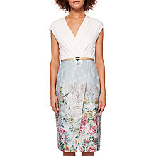 Buy Ted Baker Macal Patchwork Wrap Dress, Pale Blue Online at johnlewis.com