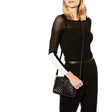Buy Karen Millen Panelled Colour Block Top, Black/Ivory Online at johnlewis.com