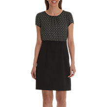 Buy Betty Barclay Print And Plain Dress, Black/White Online at johnlewis.com