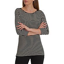 Buy Betty Barclay Striped T-Shirt, Black/Natural Online at johnlewis.com