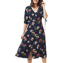 Buy Sugarhill Boutique Astrid Painterly Floral Dress, Navy Floral Online at johnlewis.com