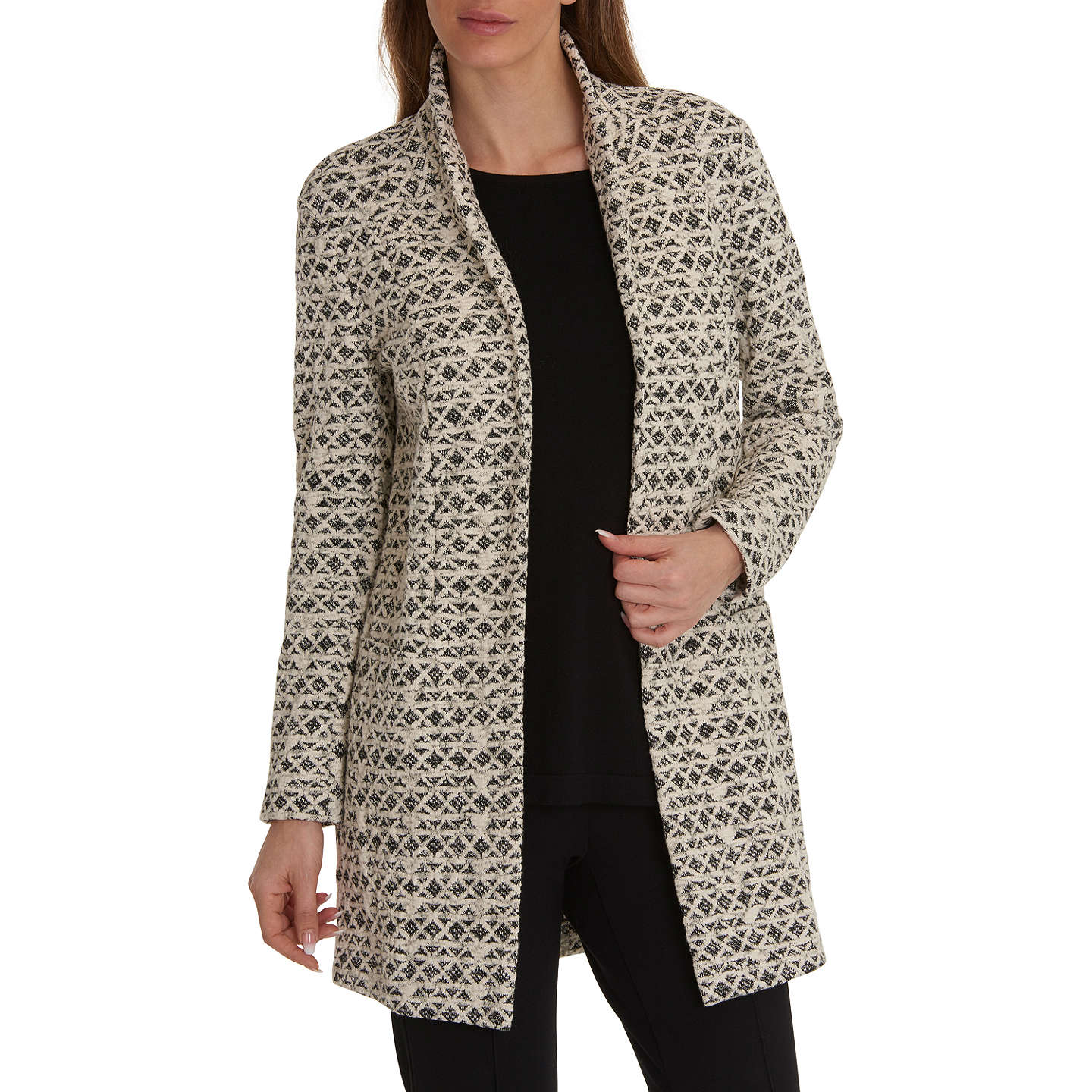 BuyBetty Barclay Textured Jacket, Black/Cream, 10 Online at johnlewis.com  ...
