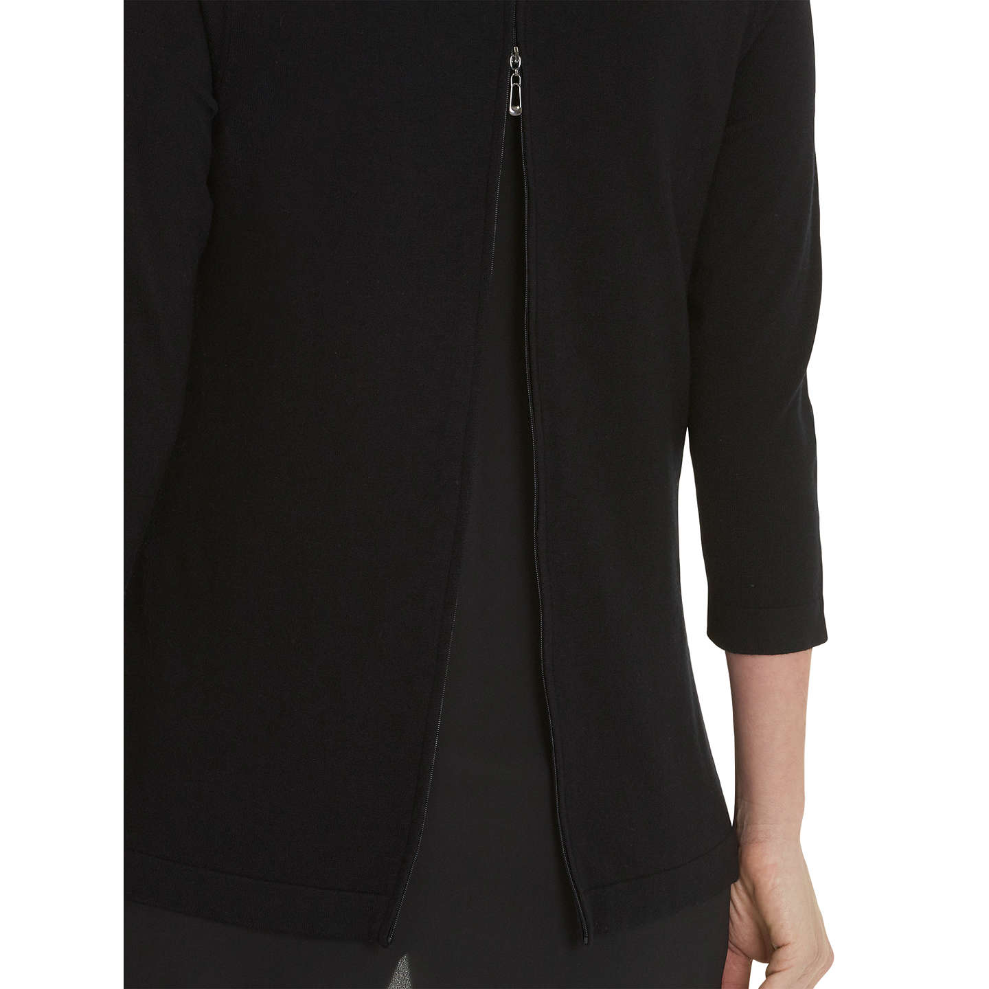 BuyBetty Barclay Oversized Double Layer Jumper, Black, 8 Online at johnlewis.com