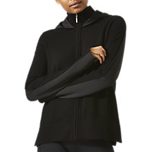 Buy Jigsaw Technical Knit Zip Neck Hoodie, Black Online at johnlewis.com