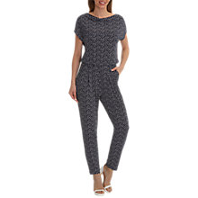 Buy Betty Barclay Printed Jumpsuit, Dark Blue Stone Online at johnlewis.com