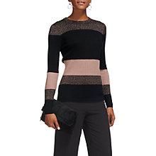 Buy Whistles Colour Block Sparkle Knitted Jumper, Multi Online at johnlewis.com