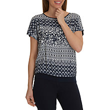 Buy Betty Barclay Graphic Print Blouse, Monochrome Online at johnlewis.com