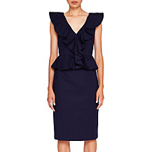 Buy Ted Baker Igune Ruffle Midi Dress, Navy Online at johnlewis.com