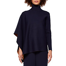 Buy Ted Baker Bryte Asymmetric Knitted Cape, Navy Online at johnlewis.com