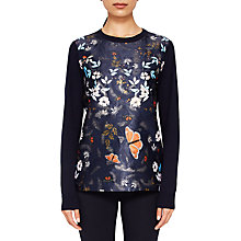 Buy Ted Baker Kyoto Gardens Jumper, Navy Online at johnlewis.com
