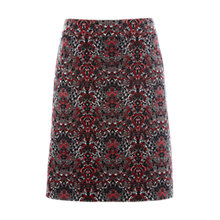 Buy White Stuff Grassland A-Line Velvet Skirt, Pink Online at johnlewis.com