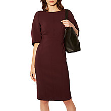 Buy Karen Millen Sculptured Pencil Dress, Aubergine Online at johnlewis.com