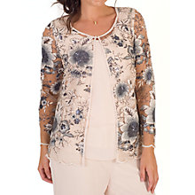 Buy Chesca Sequin And Embroidered Mesh Jacket, Blush Online at johnlewis.com