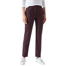 Buy Jigsaw Melange London Trousers, Aubergine Online at johnlewis.com