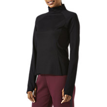 Buy Jigsaw Athleisure Long Sleeve Sports Luxe Top, Black Online at johnlewis.com