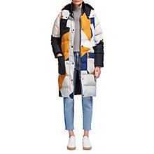 Buy Whistles Ash Printed Longline Coat, Multi Online at johnlewis.com