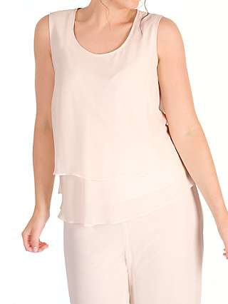 Chesca Wrap Back Layered Chiffon Top