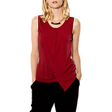 Buy Karen Millen Soft Tuck Draped Jersey Top, Red Online at johnlewis.com