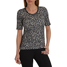 Buy Betty Barclay Animal Print Top, Black/Natural Online at johnlewis.com