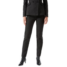 Buy Jigsaw Denim Dinner Trousers, Black Online at johnlewis.com
